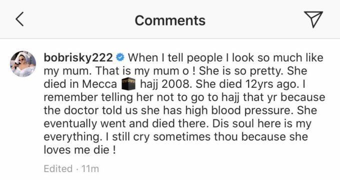 Bobrisky remembers how his mum died 12 years ago in Mecca (Photo) 2