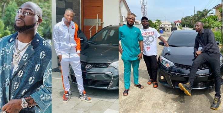 Davido Buys Brand New Toyota Camry For A Member Of His Crew (Photos)