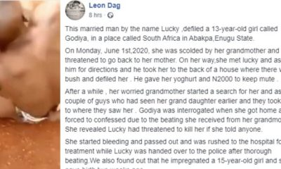 Married man nabbed after defiling a 13-year-old girl and impregnating a 15-year-old girl