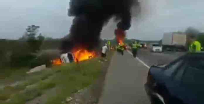 Fallen Fuel Tanker Exploded