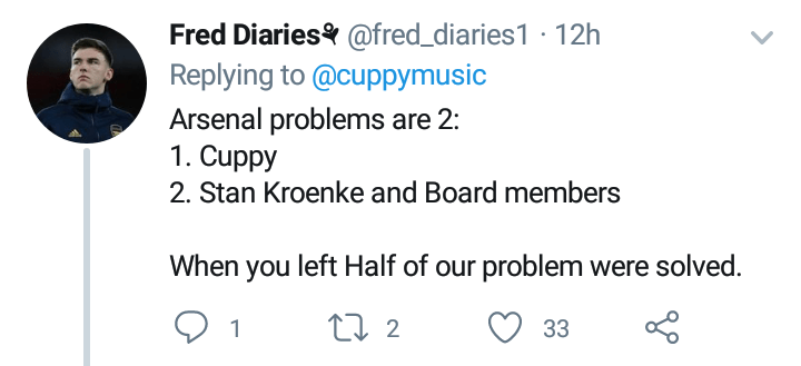 DJ Cuppy mocks Arsenal after losing 2-1 to Tottenham