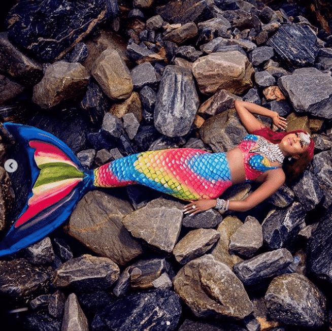 Ex-Big Brother Naija housemate Thelma transforms into a mermaid for her 28th birthday (Photos)