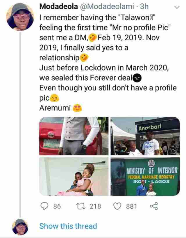 unnamed 2 1 - Nigerian Woman Marries A Twitter Person One Yr After He Despatched Her A DM With No Profile Picture