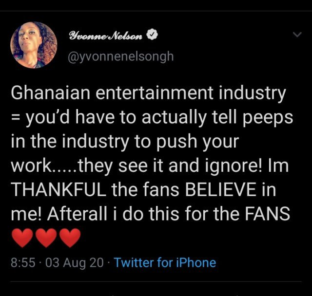 Yvonne Nelson Blasts Ghollywood