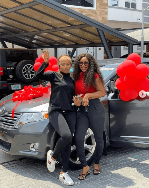 Mercy Eke buys sister a car