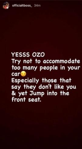 #BBNaija: TBoss shades Nengi while celebrating Ozo for winning a new car 2