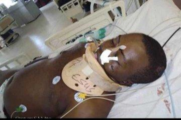 #EndSARS protester who was stabbed by thugs yesterday in Abuja, dies today (Photos)