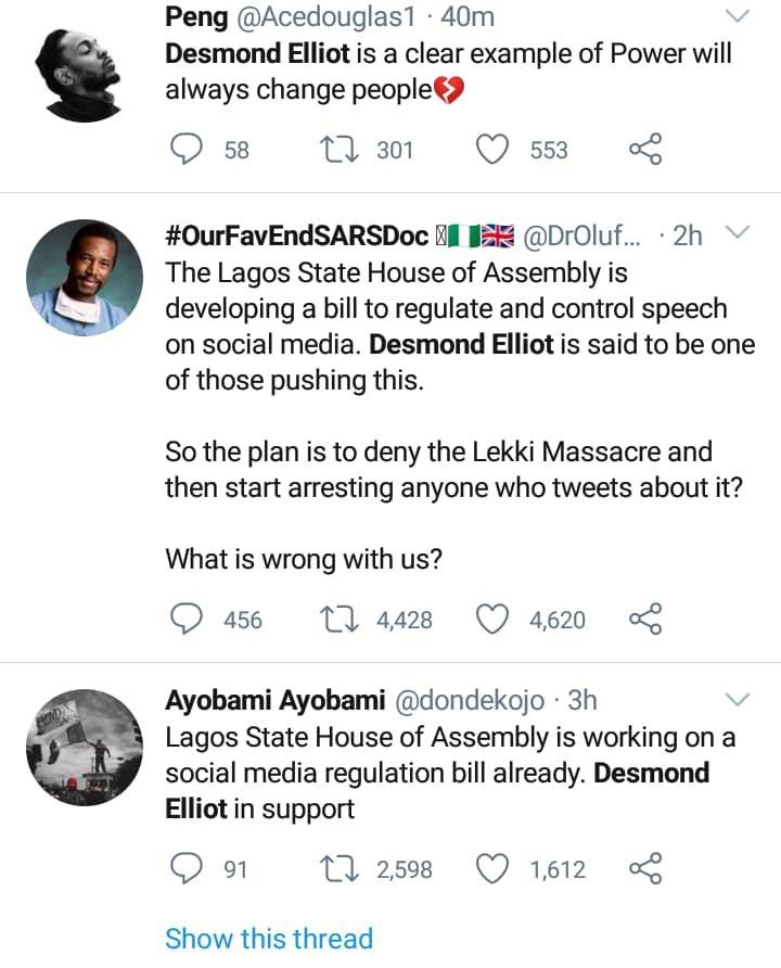 Nigerians drag Desmond Elliot