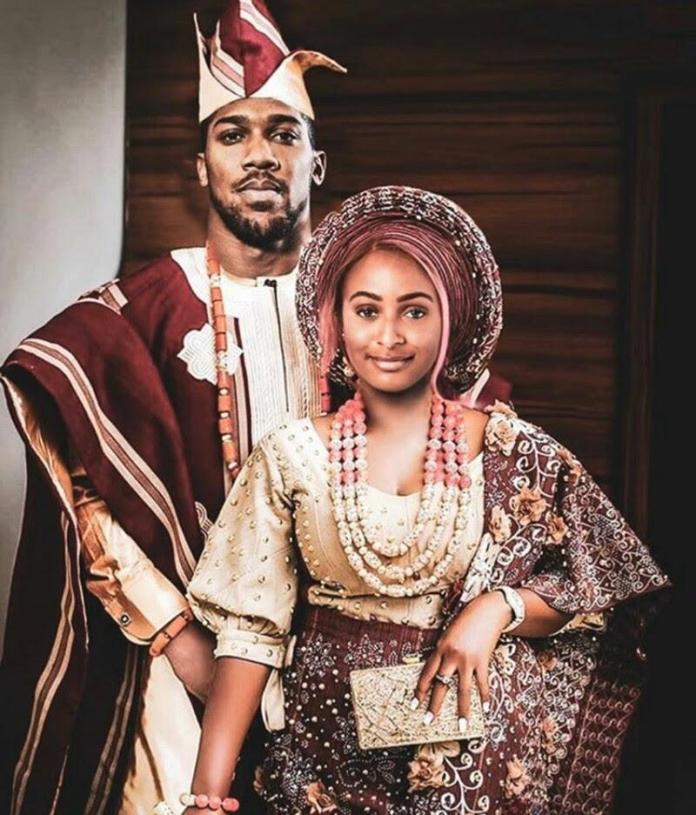Traditional Wedding: Fans Reacts To Dj Cuppy, Anthony Joshua's Photo