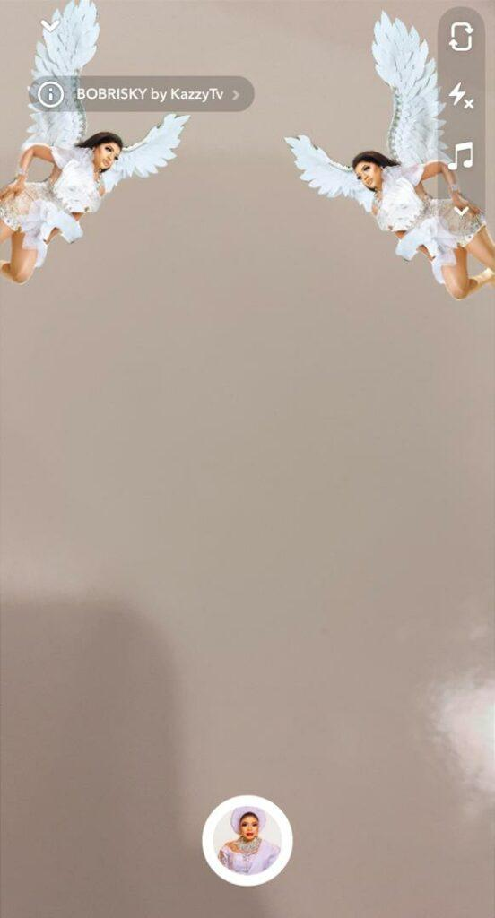 bobrisky snapchat filter