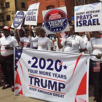 Nigerians rally for Donald Trump