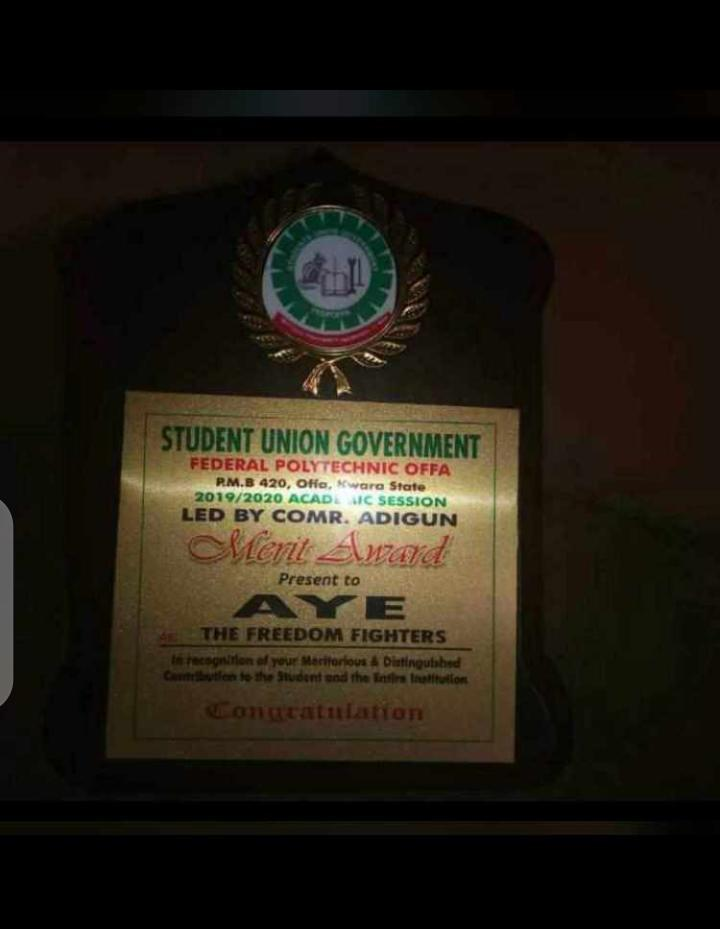 Polytechnic offa award cultists aye