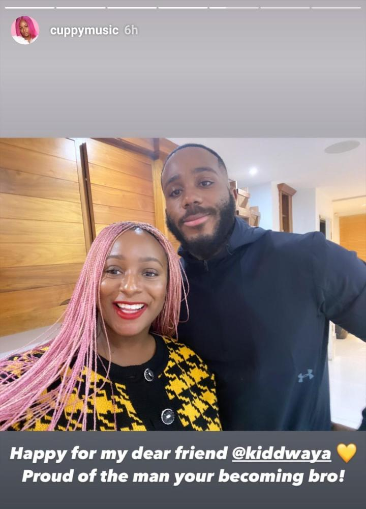 """""""Proud of the man you're becoming"""" - DJ Cuppy says as she shares photo with Kiddwaya"""