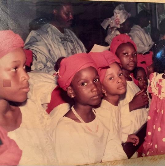 throwback photo of banky w wife