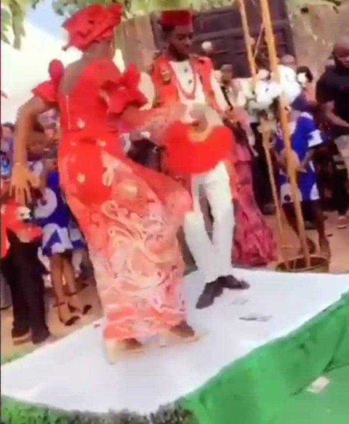 Bride goes wild on her wedding day