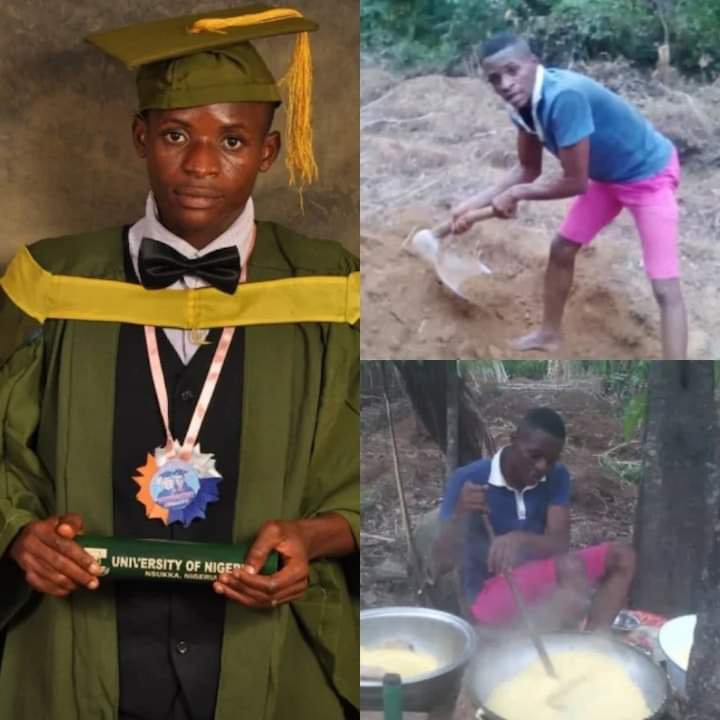 First Class graduate turns cassava farmer