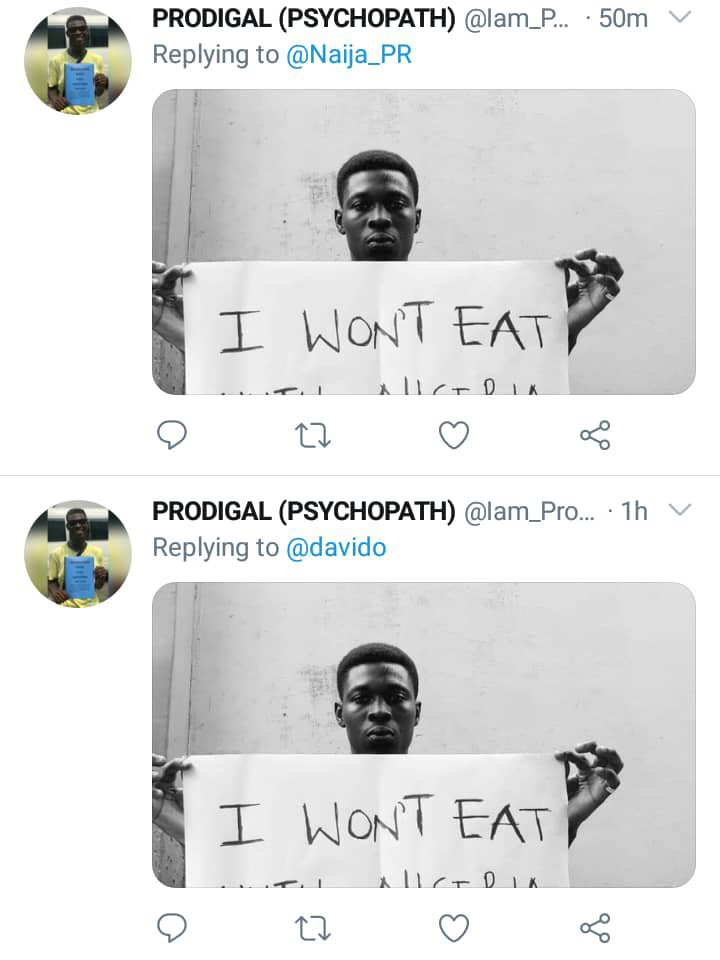 Man Vows Not To Eat Until Nigeria Gets Better