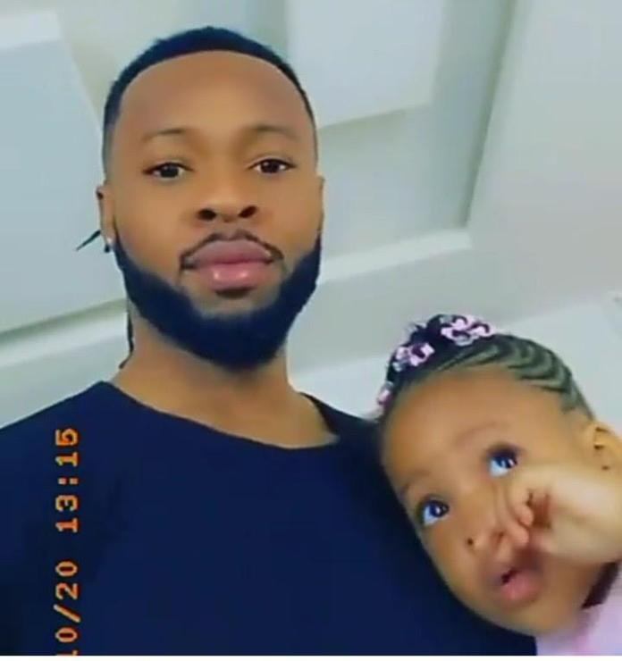 Flavour and his daughter kaima