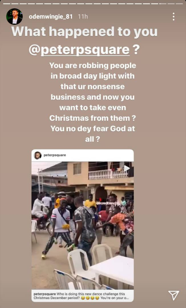 Odemwingie calls out Peter Okoye