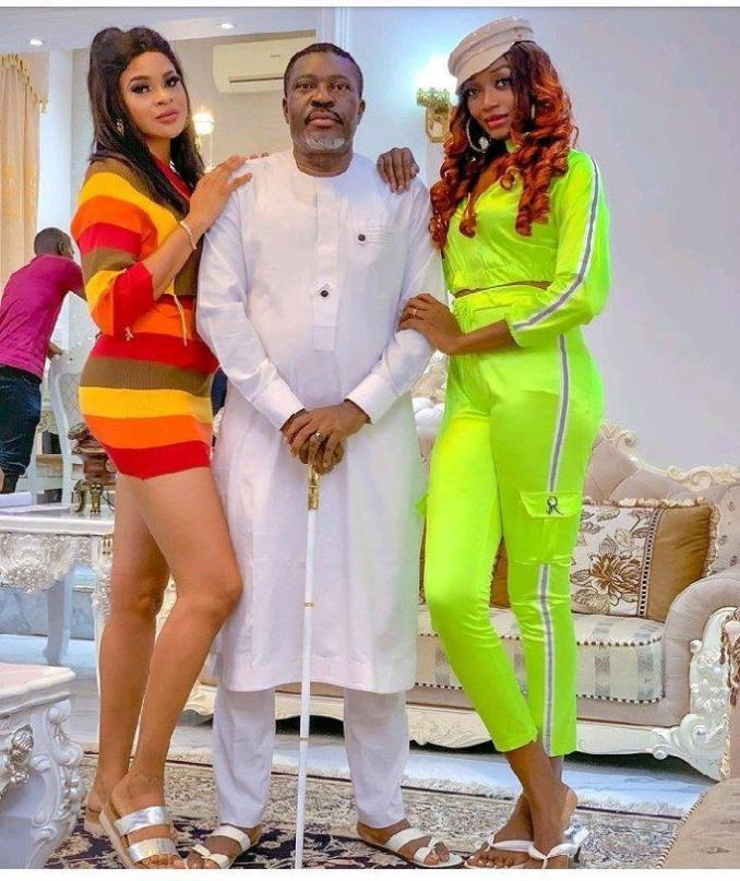 """You won use them for sacrifice"" - Fans troll Kanayo O. Kanayo after sharing photos with two ladies"