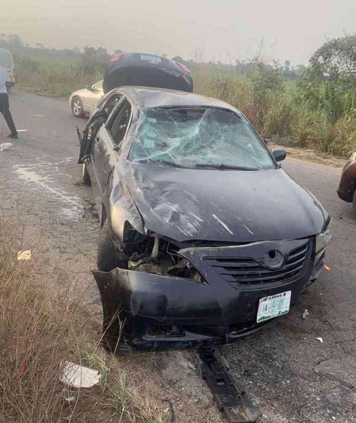 Wizkid's baby mama, Shola Ogudu survives car crash (Photos)