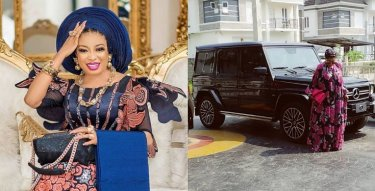 Actress, Lizzy Anjorin Flaunts Her Newy Acquired G-Wagon (Photo)