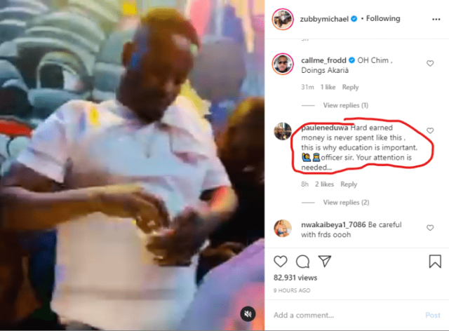 """""""Hard earned money is never spent like this"""" - Man lectures Zubby Michael over lavish spending (Video)"""