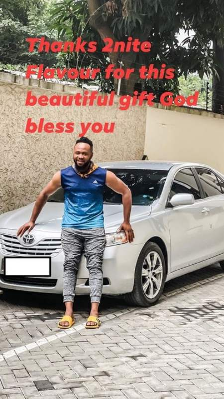 Flavour gifts childhood friend a brand new car (Photos)