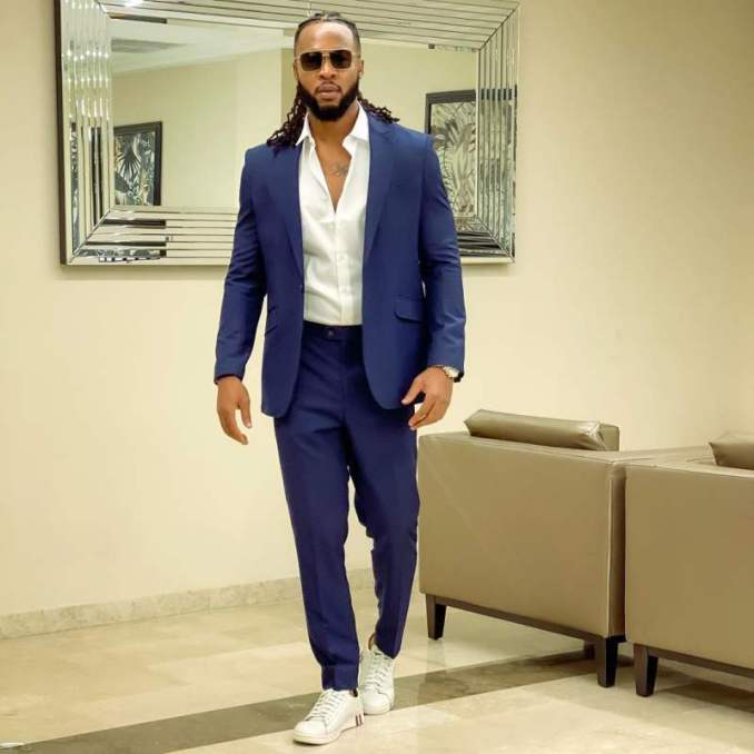Singer, Flavour gifts childhood friend a brand new car (Photos)