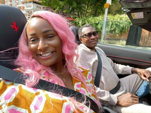DJ Cuppy and her dad