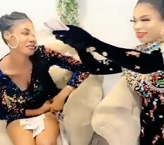 Bobrisky flies fan from Ivory Coast to Nigeria, spoils her with money (Video)