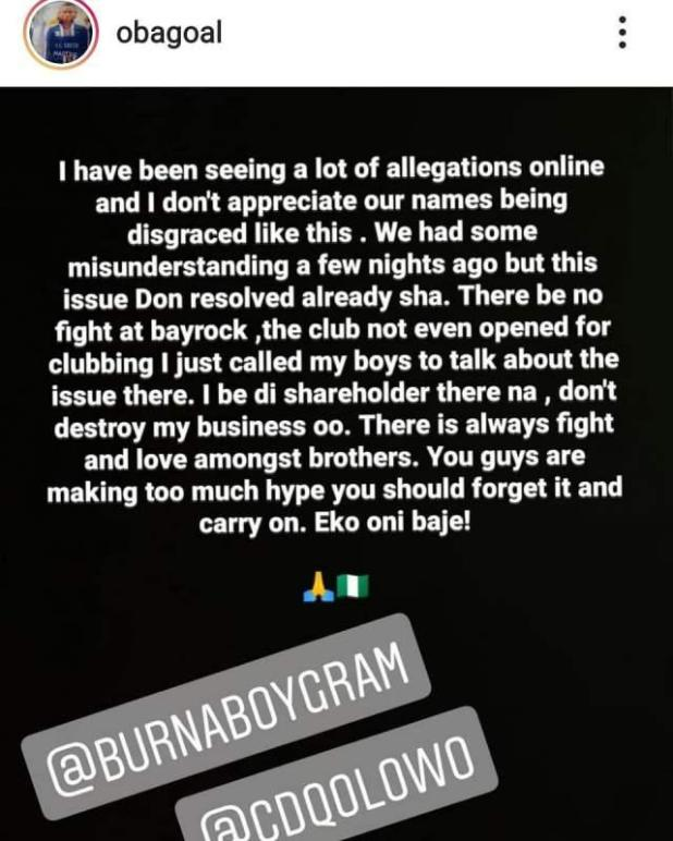 """""""Stop making a big deal out of it"""" - Obafemi Martins opens up on fight with Burna Boy"""