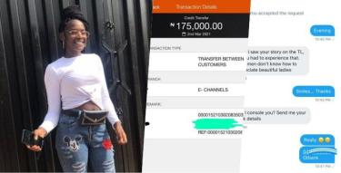Lady who trekked from Ikeja to Mile 12 receives N175K as consolation