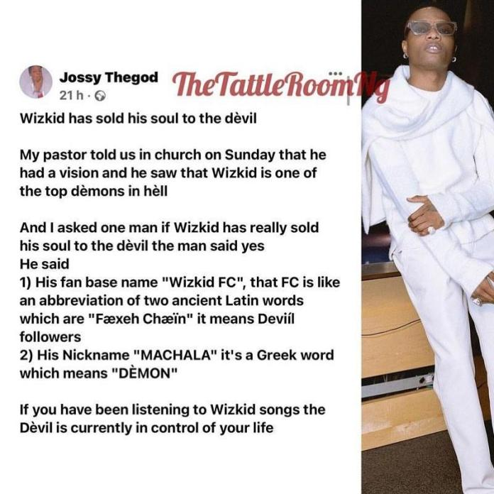 """""""My pastor says Wizkid is one of the demons in hell; Machala means devil"""" - Man claims"""