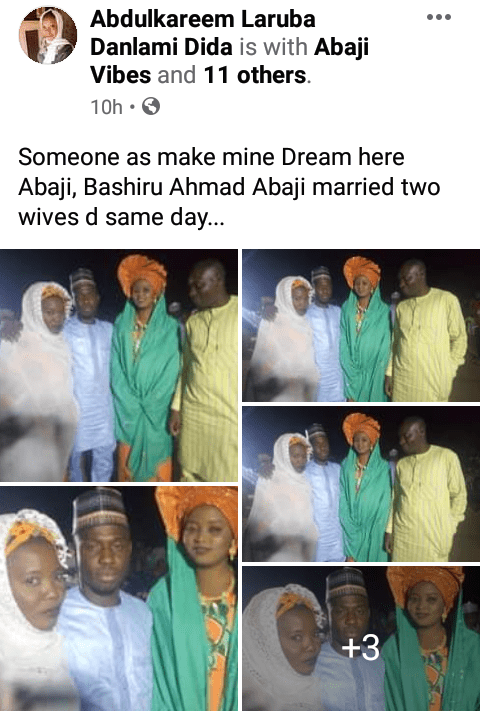 Man weds two women on the same day in Abuja (Photos)