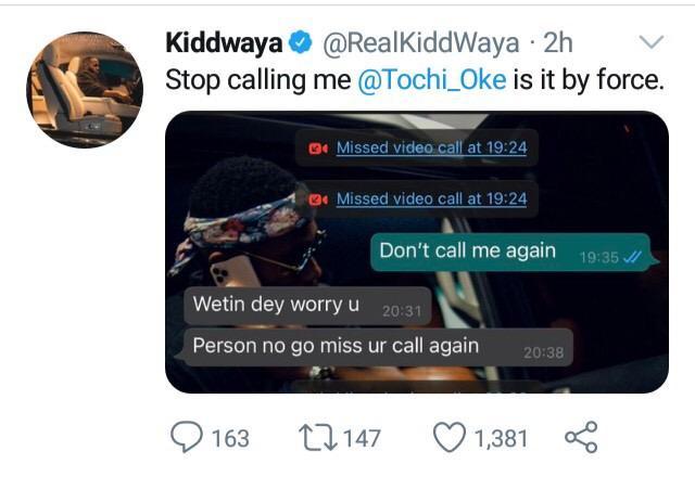Kiddwaya Tochi WhatsApp