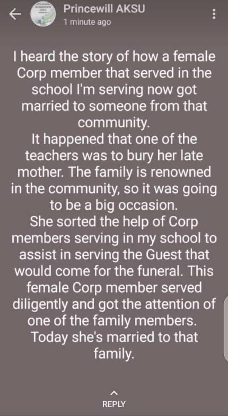 Female Corp Member Funeral