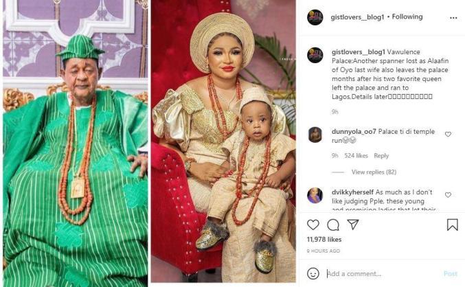 Alaafin Oyo Last Wife exits Palace