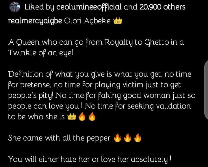 victim pity Mercy Aigbe
