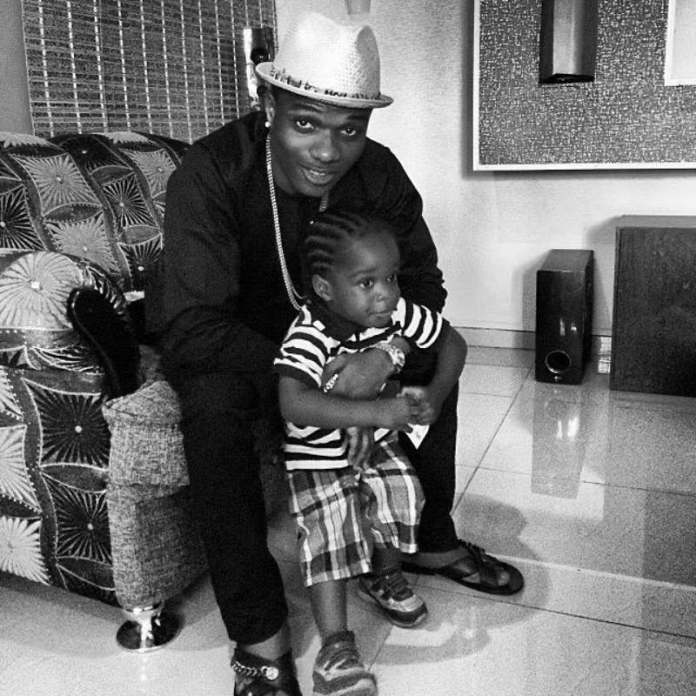 Wizkid's son, Boluwatife anticipates 10th birthday as he shares throwback photo with his father