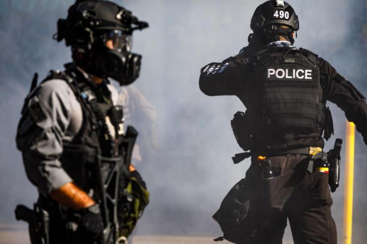 Police officer bullet shells