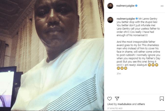 Mercy Aigbe lanre father