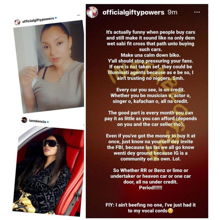 Stop pressuring your fans - TBoss attack celebrities showing off their expensive Rolls Royce