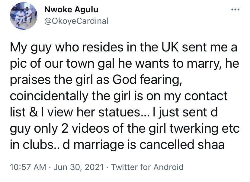 Twitter User Marrying Friend Slay Queen