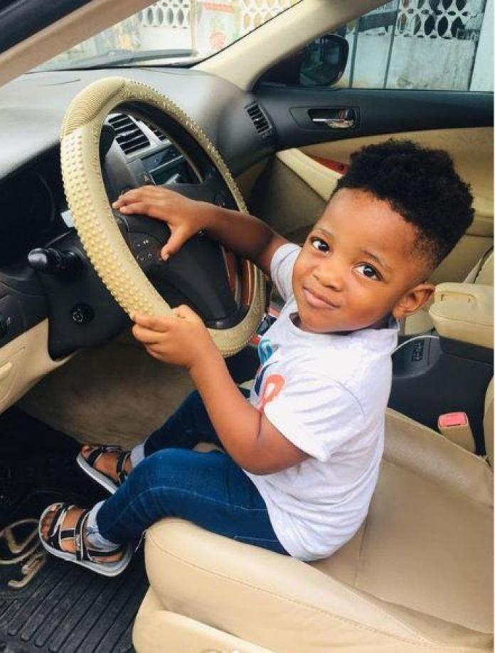 Fans celebrate Tega's son Jamil as he turns a year older today