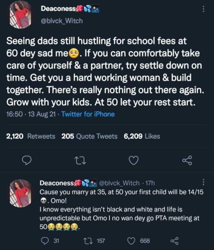 """""""Marry early if you can, it's sad seeing 60 year olds at PTA meeting"""" - Lady"""
