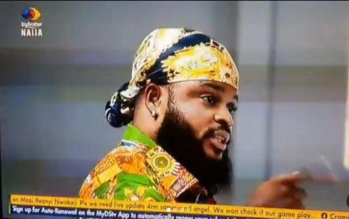 #BBNaija: Maria and Whitemoney gets into heated argument as he insists that he had prior knowledge about the wild cards identity (Video)