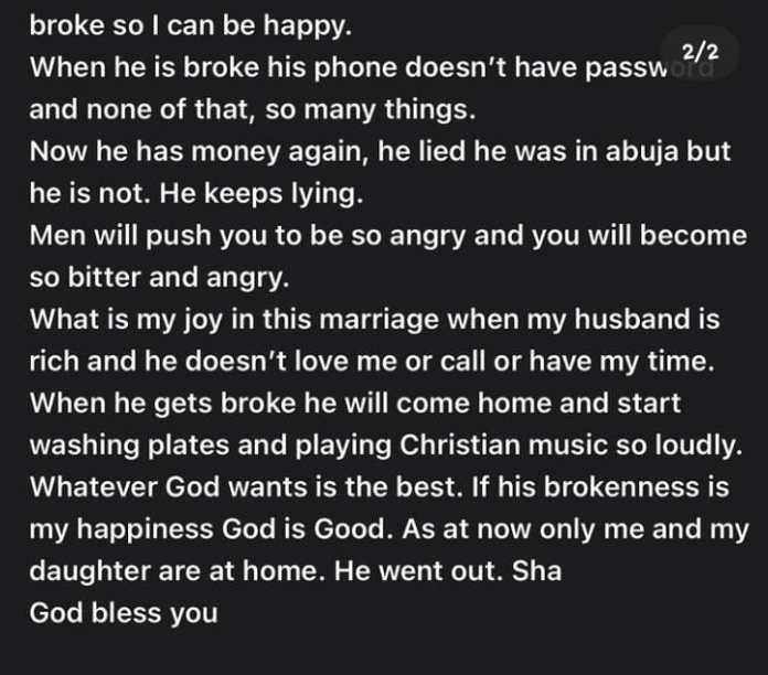 husband broke