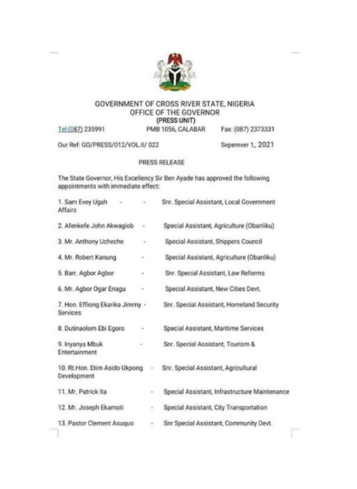 Iyanya Political Appointment Governor