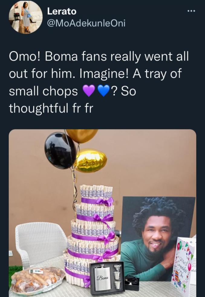 """""""They should've added okro soup"""" - BBNaija's Boma mocked after getting small chops, others from fans"""